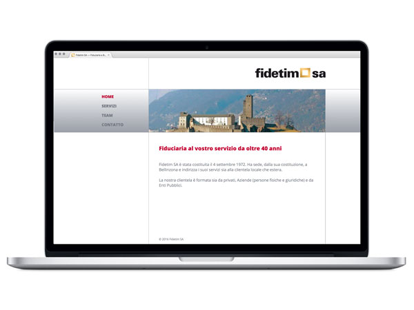 Website Fiducaria Fidetim;