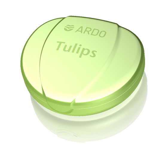 Container for nipple shields Tulips