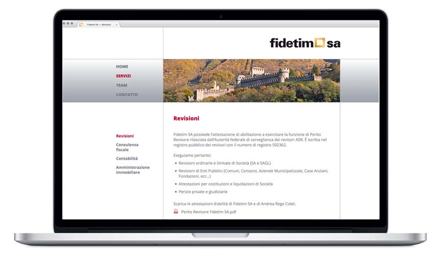 Website  Fidetim Revisionen