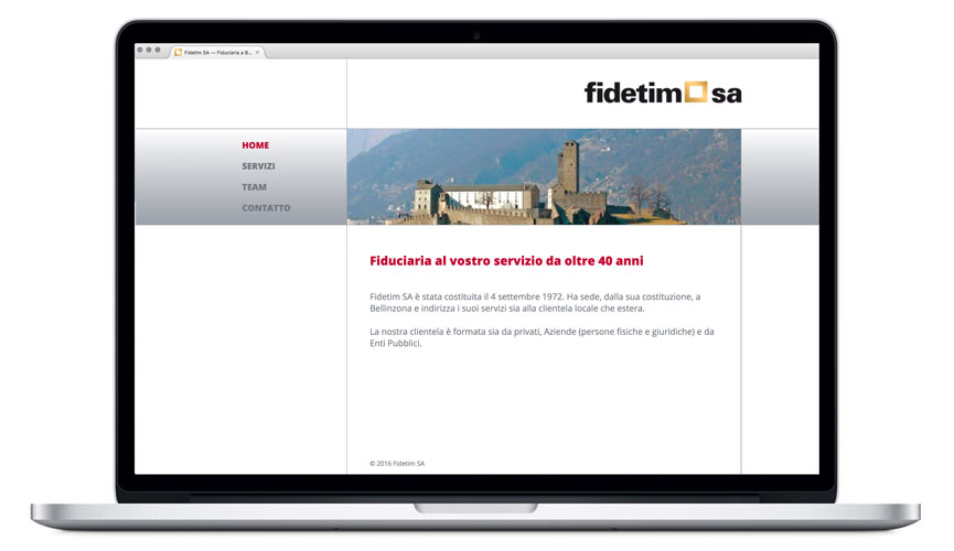 Corporate Website Treuhandbüro Fidetim Home